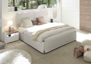 łóżko do sypialni w stylu skandynawskim